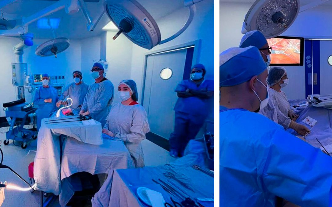 Why is the light in the operating room blue?